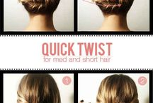 Hair. Short and elegant up do's