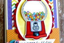 Gumball machine card ideas