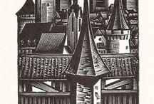 ex libris Anatolij Kalaschnikov (Mosca, 1930-2007)