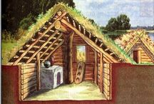 in-ground dwellings /cabins /ideas