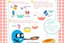 Recettes à tester avec les enfants / Des recettes que j'aimerais tester avec ma fille de 9 ans ou pour de nouvelles idées de goûters pour l'école ou pour les anniversaires :)
