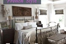 Master Bedroom - grey, gold, white