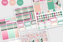 erin condren stickers free printables