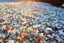 Gemstones and seaglass.