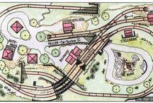 plánování a stavba modelové železnice