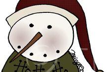 snowmen/santas