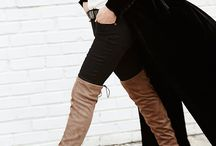 How to Wear Tall Boots / Our fave inspo for wearing one of the hottest trends for Fall 2015, over-the-knee and knee-high boots. Tall boots are a staple every chic women should have in her wardrobe.  / by Browns Shoes