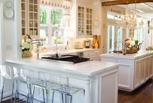 white kitchen / by Linda Strumsky
