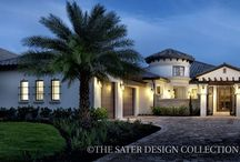 Concrete Home Plans - The Sater Design Collection / Our concrete style house plans obviously feature concrete construction, which has long been a staple in our southwest Florida home design criteria. Concrete home plans have numerous structural and sustainable benefits including greater wind resistance and long lasting, low-maintenance living.
