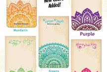 yoga mood board / yoga logos textures fonts colours