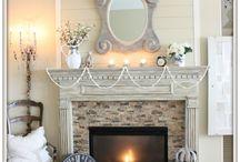 FirePlaceMantel~Stair Rail Ideas / by Peggy Swearingen