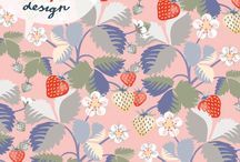jjollydesign strawberries pattern design / it is a technical surface pattern design, I made this design myself. JJollydesign has the copyright on it and it is registered in CCproof.