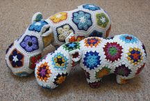 hipopotamo hecho a crochet