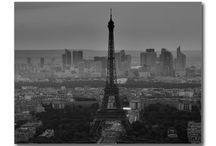 Black & White Travel Postcards