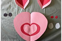 School - valentines art