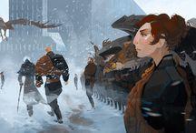 digital art / concept art, character design, animation backgrounds