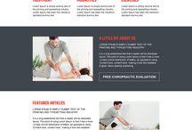 chiropractic landing page design