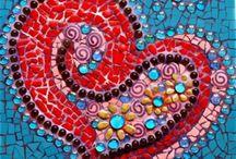 Mosaico, cristal / vidrio, cerámica, azulejos, mármol......