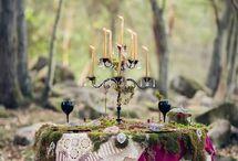 moss bord i skogen