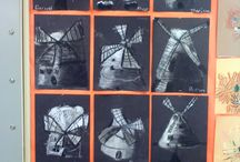 Rembrandt van Rijn - Art projects for kids & K-8 students / Rembrandt van Rijn - Curriculum & Art Projects for Kids Art Elements Taught Space, Value Art Activity Emphasis Dutch Landscapes, Highlighting and Shadows,