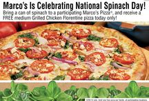 Spring brings Fresh Spinach to Marcos! / This spring brought Fresh Spinach to Marcos Pizza! Add fresh spinach to your pizza or sub and join the fresh ingredient movement!