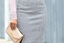 high waisted  skirt with ankle boots