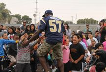 Los Angeles Rams / The Los Angeles Rams are back in town (Southern California), so we track the Rams through their community and showcase events.