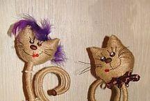 кошки из джута
