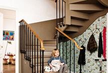 dans les escaliers