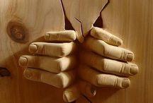 Wood hands
