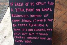 Keep it local! / Support your local businesses!
