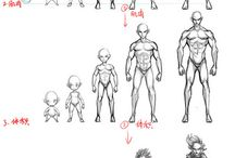 . how to draw male body