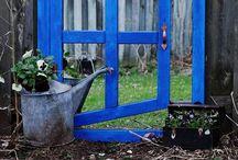 Garden art  Faux window