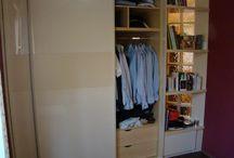 Tolóajtós szekrények