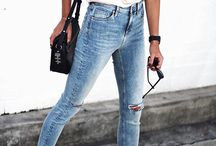 Light washed jeans outfit