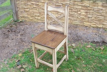 Amish Made Chairs & Benches / All chairs are hand made at time of order most are made from reclaimed Oak