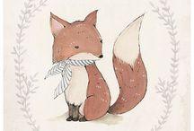 여우,fox drawings