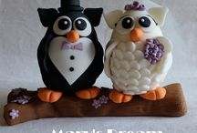 Owl Cake Topper / Owl Cake Topper Realizzati da Mary's Dream Pagina Facebook: https://www.facebook.com/MaryPasticciona Blog: www.marysdream.it