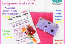 WEDDING I SPY GAME / Keep the kids entertained for hours with this WEDDING I SPY GAME... hard plastic disposable camera, laminated checklist, texta in a handy Kraft Bag..