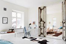 BOHO & Native American White Interior Clean Design