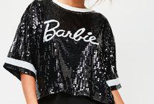 Barbie x Missguided Black Sequin T Shirt / AUD $63.95