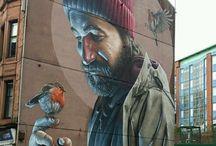 #SokakSanatı ♥♥♥ Street Art & Street Artist & Graffiti / Sokak sanatı toplumsal alanlarda yaratılan ve içerik olarak sanat çevresinin dışında yer alan bir görsel sanat türüdür. Bu tanım seksenlerin başlarında popülerlik kazanmıştır. Sokak sanatının günümüzde birçok farklı uygulaması vardır. ♥♥♥   Street art is a visual art form located outside of art circles as content created and communal areas.