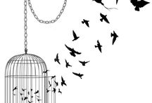 Inspiration [Tattoo Project #1] ⇝ / Birds, Birdcage, freedom & key