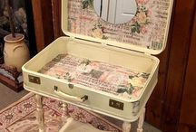 SUITCASES - REPUPOSED/RESTYLED