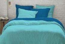 Collection Harmonie, linges de lit en lin lavé bicolore / Parures bicolores 100% lin lavé. Collection de chez Sélène est Gaïa : https://www.selene-et-gaia.com/linge-de-lit-lin-3163/