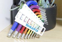 SMATO 9pcs Ball END Hex l-Key Wrench Sest