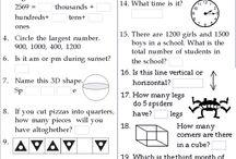 Math worksheets grade 2/3/4