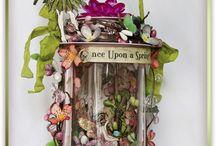 fairies and fairy jar / fairy jar