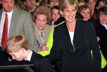 18 December 1996: Princess Diana and Prince Harry attend a Performance of the group Riverdance