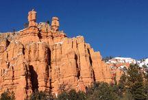 Arizona Canyons and rocks / Antelope Canyon, Horseshoe bend, Bryce Canyon